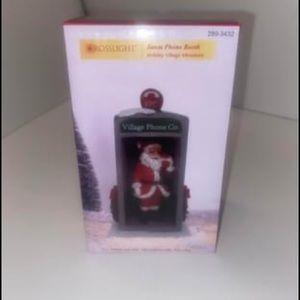 Santa Phone booth Christmas Village Piece